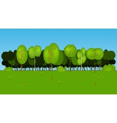 Collection of Cartoon Tree in vector image vector image