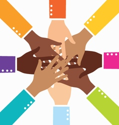 Creative Diversity Teamwork Business Hand vector image vector image