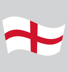 flag of england waving on gray background vector image vector image