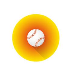 flat color baseball ball vector image vector image