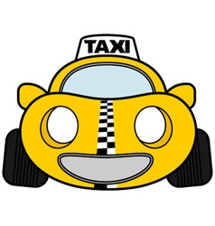 Funny taxi car vector image vector image