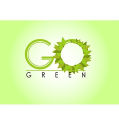 Go green background vector image