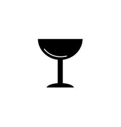 ice cream cup icon black vector image