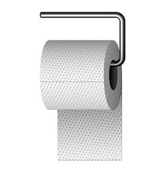 Toilet paper on chrome holder vector