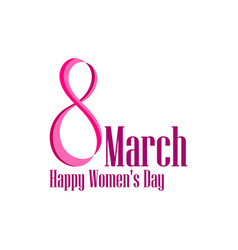 8 march day international womens day label with vector image