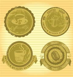 coffee signs vector image