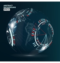 Futuristic Globalization Interface Modern Earth vector image vector image