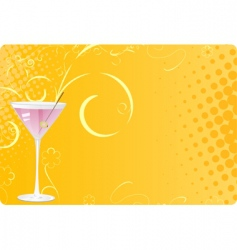 martini glass on halftone background vector image