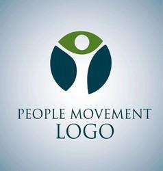 PEOPLE MOVEMENT LOGO 1 vector image