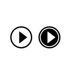 play icon video play button vector image vector image