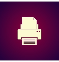 Print icon Flat design style vector image
