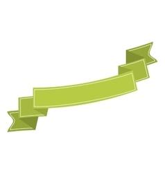 ribbon banner green neon design icon vector image vector image