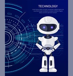 technology robot and interface vector image