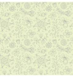 Doodle summer seamless pattern Retro subdued vector image