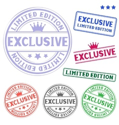 exclusive stamp vector image vector image