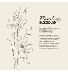 Flower over sepia background vector image