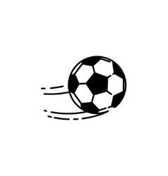 Football ball line icon vector image