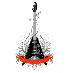 guitar with pattern vector image