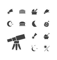 13 astronomy icons vector