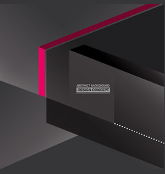 Abstract monochromatic gray boxes background vector
