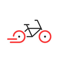 Abstract rent a bike brand icon vector