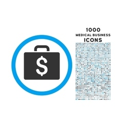 Accounting Case Rounded Symbol With 1000 Icons vector
