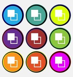 Active color toolbar vector
