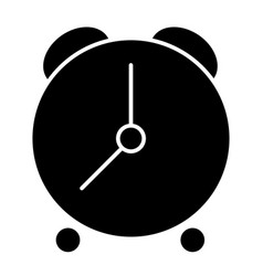 Alarm clock solid icon time vector