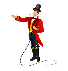 Animated character circus trener vector