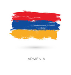 armenia colorful brush strokes painted national vector image