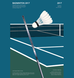 Badminton championship poster vector