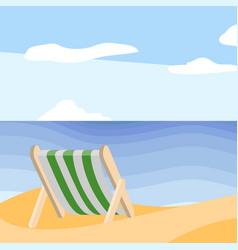 beautiful beach landscape summer season vector image