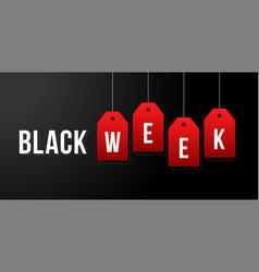 Black week black week sale white tags vector