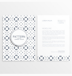 business leaflet design with abstract pattern vector image