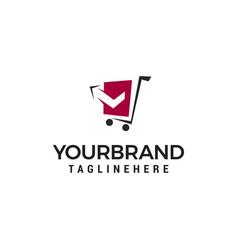 Cart logo design concept template vector