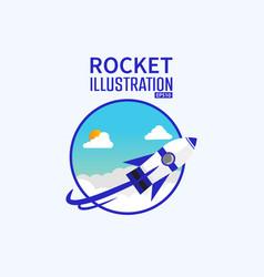 cartoonist 3d rocket background concept design vector image