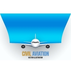 Civil Aircraft with space for text vector image