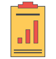 clipboard with chart report paper icon vector image