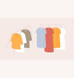 Clothing store showroom fashion shop sale garment vector