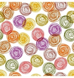 Colorful doodle circles simple geometric seamless vector
