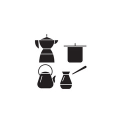 cooking utensils black concept icon vector image