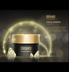 cosmetic cream realistic template product package vector image