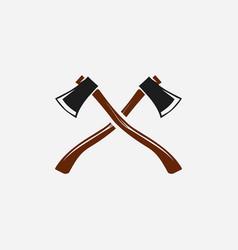 cross axe symbol logo design template vector image