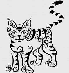 Curl cat vector