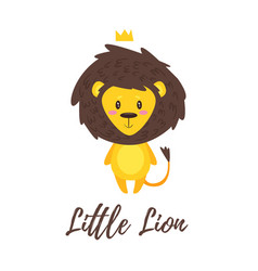 Cute lion vector