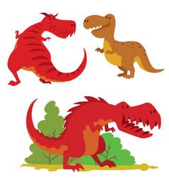 dinosaurs dino animal tyrannosaurus t-rex vector image