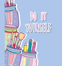 do it yourself crafts concept vector image