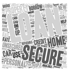 Do You Know Which Loan You Want text background vector image