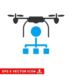 Drone Distribution Eps Icon vector image