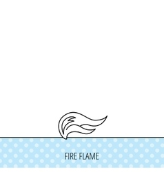 Fire flames icon Blazing bonfire sign vector image